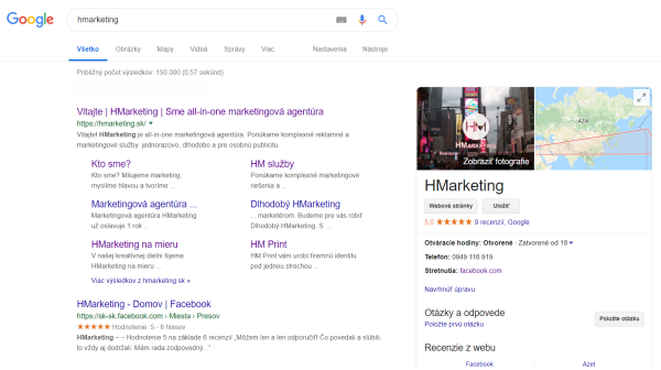 google moja firma hmarketing